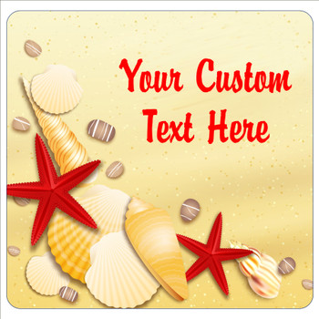 """Cruise Ship Door Magnet - 11"""" x 11"""" -  Customized  with your text -sea shells"""