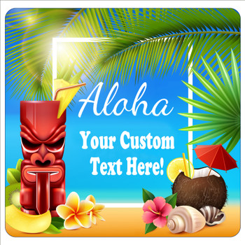 """Cruise Ship Door Magnet - 11"""" x 11"""" -  Customized  with your text -aloha"""