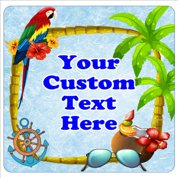 """Cruise Ship Door Magnet - 11"""" x 11"""" -  Customized  with your text -tropical"""