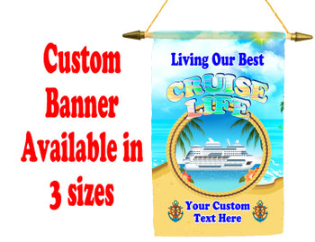 Cruise Ship Door Banner -  available in 3 sizes.    Custom with your text!  -cruise life