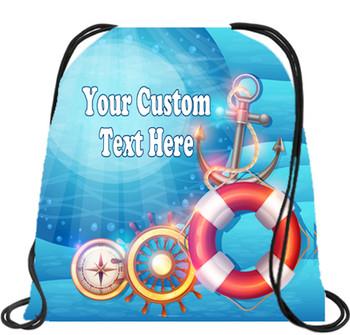 Cruising theme custom drawstring back pack - custom 051