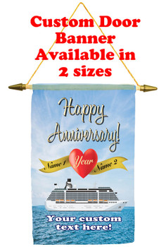 Cruise Ship Door Banner - Anniversary 2