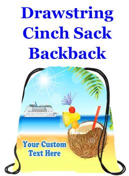 Cruising theme custom drawstring back pack - custom 056