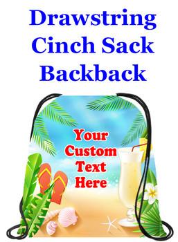 Cruising theme custom drawstring back pack - custom 057