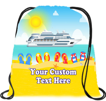 Cruising theme custom drawstring back pack - custom 059