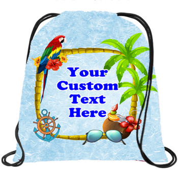 Cruising theme custom drawstring back pack - custom 060