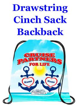 Cruising theme custom drawstring back pack - custom 061
