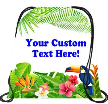 Cruising theme custom drawstring back pack - custom 063