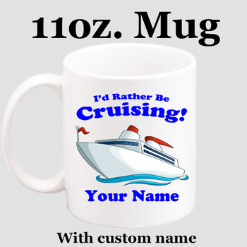 Cruise & Beach theme Custom 11 oz. mug.  Great gift for friends & family or as a special memento for you!  (006