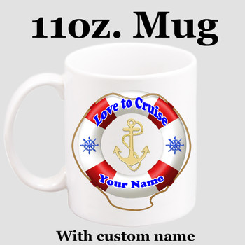 Cruise & Beach theme Custom 11 oz. mug.  Great gift for friends & family or as a special memento for you!  (007