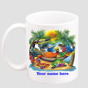 Cruise & Beach theme Custom 11 oz. mug.  Great gift for friends & family or as a special memento for you!  (011