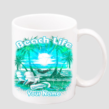 Cruise & Beach theme Custom 11 oz. mug.  Great gift for friends & family or as a special memento for you!  (013