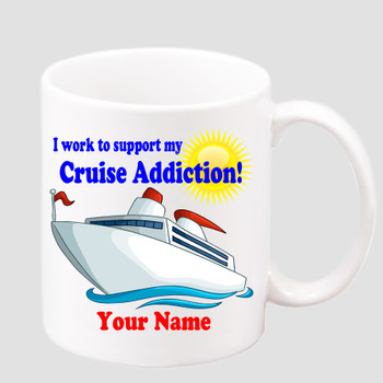 Cruise & Beach theme Custom 11 oz. mug.  Great gift for friends & family or as a special memento for you!  (017