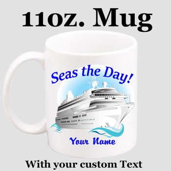 Cruise & Beach theme Custom 11 oz. mug.  Great gift for friends & family or as a special memento for you!  (018