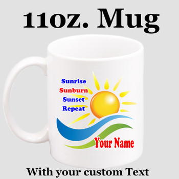Cruise & Beach theme Custom 11 oz. mug.  Great gift for friends & family or as a special memento for you!  (025