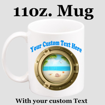 Cruise & Beach theme Custom 11 oz. mug.  Great gift for friends & family or as a special memento for you!  (027