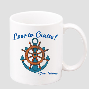 Cruise & Beach theme Custom 11 oz. mug.  Great gift for friends & family or as a special memento for you!  (028
