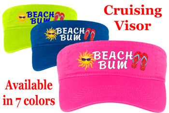 Cruise Visor - Full color art work with choice of 7 visor colors.  (s100