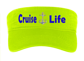 Cruise Visor - Full color art work with choice of 7 visor colors.  (s103