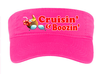 Cruise Visor - Full color art work with choice of 7 visor colors.  (s105