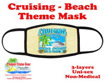 Mask.  Cruising and Beach theme mask - design 001