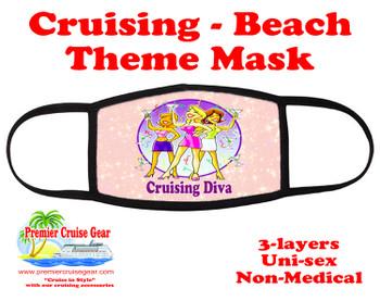 Mask.  Cruising and Beach theme mask - design 003