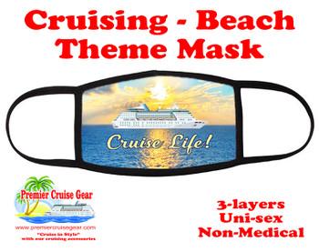 Cruising and Beach theme mask - design 007