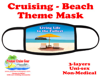 Cruising and Beach theme mask - design 009