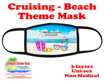 Cruising and Beach theme mask - design 012