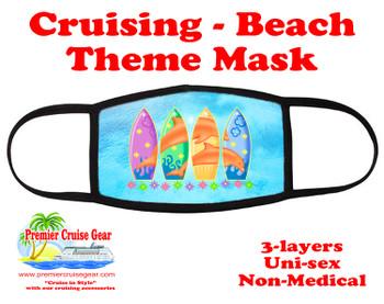Cruising and Beach theme mask - design 013