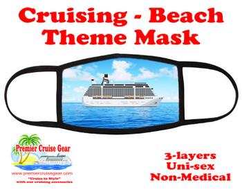 Cruising and Beach theme mask - design 015