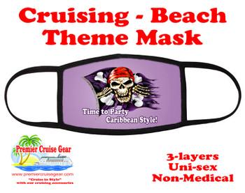 Cruising and Beach theme mask - design 019