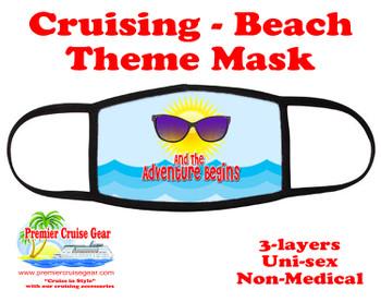 Cruising and Beach theme mask - design 020