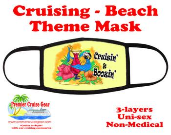 Cruising and Beach theme mask - design 021