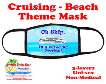 Cruising and Beach theme mask - design 024