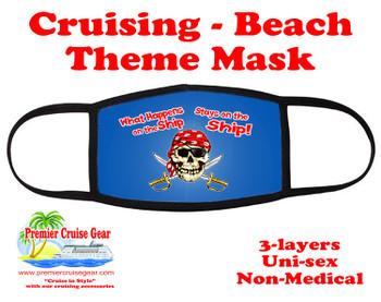 Cruising and Beach theme mask - design 026