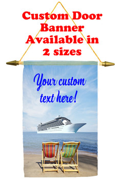 Cruise Ship Door Banner - Beach chairs 1