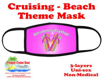 Cruising and Beach theme mask - design 027