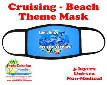 Cruising and Beach theme mask - design 028