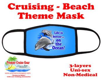 Cruising and Beach theme mask - design 029