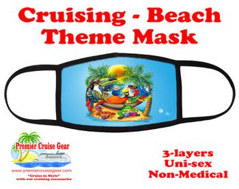 Cruising and Beach theme mask - design 032