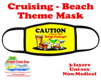 Cruising and Beach theme mask - design 036