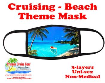 Cruising and Beach theme mask - design 053