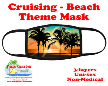 Cruising and Beach theme mask - design 054