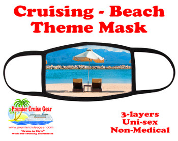 Cruising and Beach theme mask - design 055