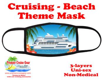 Cruising and Beach theme mask - design 058