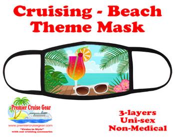 Cruising and Beach theme mask - design 061