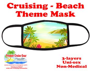 Cruising and Beach theme mask - design 062