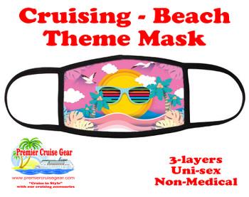 Cruising and Beach theme mask - design 063