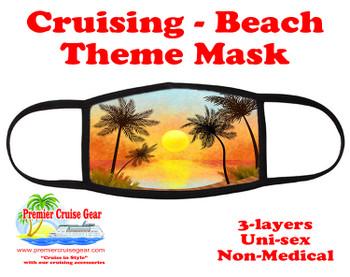 Cruising and Beach theme mask - design 065